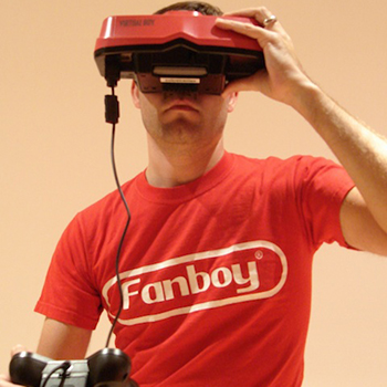 Nic with Virtual Boy square